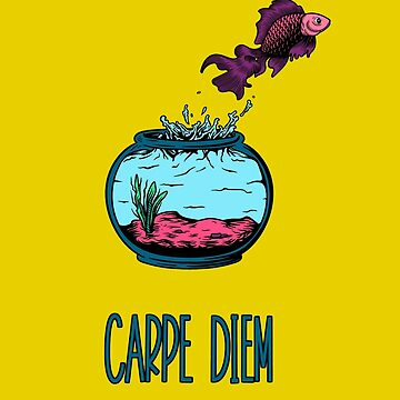 Carpe Diem - Betta Fish by leeseylee