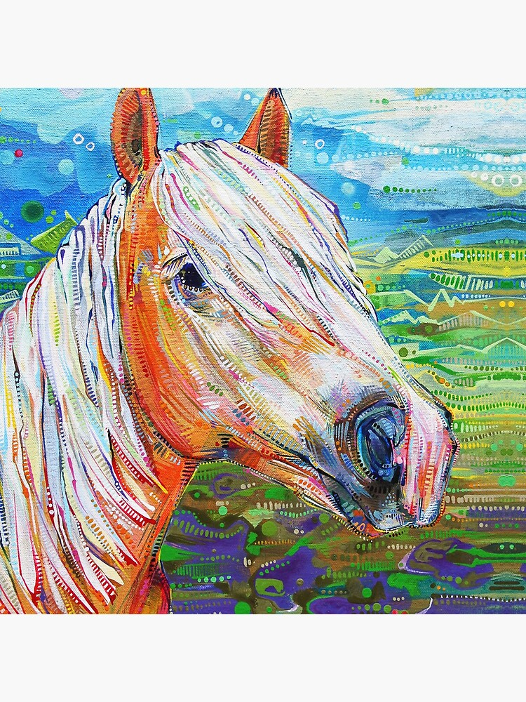 Haflinger horse (looking right) painting - 2012 by gwennpaints