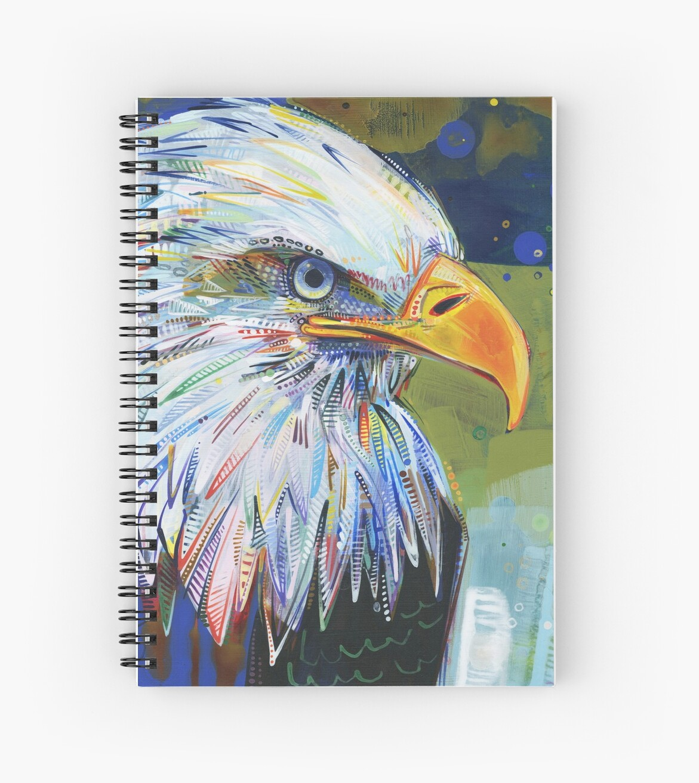 Bald eagle painting - 2012 by Gwenn Seemel
