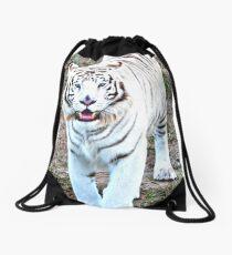 White Tiger Drawstring Bag