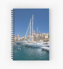 Malta: Vittoriosa Yacht Marina Spiral Notebook