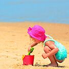 Playtime on the beach by Matsumoto