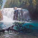 Lewis River Falls (upper) by Marcus  Gannuscio