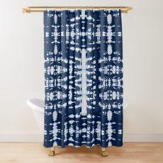 Kumo Indigo Shibori Shower Curtain