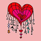 Valentines Wind Chime Heart by sandyspider