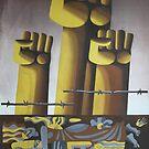 """Fascism Will Not Pass!"", USSR, 1983, Antifascist Propaganda Art by 'Youth Exposes Imperialism' Artists L. Levshakova and V. Karshakov by dru1138"