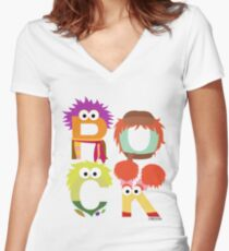 """A Fraggle """"ROCK"""" Women's Fitted V-Neck T-Shirt"""
