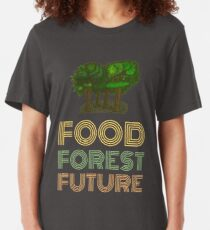 Food Forest Future Slim Fit T-Shirt
