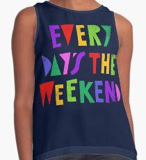 Wochenende jeden Tag Kontrast Top