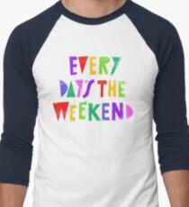 Camiseta ¾ bicolor para hombre Fin de semana todos los días
