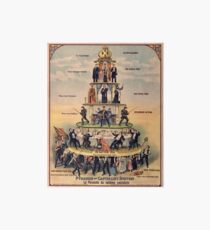 """Pyramid of Capitalist Systems"""" - Industrial Workers of the World, 1911, Anticapitalist Propaganda Poster Art Board Print"""