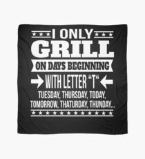 Grill Lover Funny Saying Gift Scarf