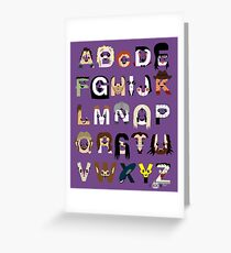 Horror Icon Alphabet Greeting Card