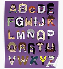 Horror Icon Alphabet Poster