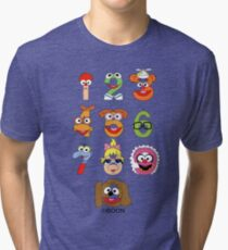 Muppet Babies Numbers Tri-blend T-Shirt