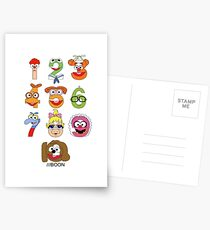 Muppet Babies Numbers Postcards