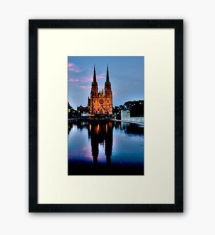 St Marys Cathedral - Sydney Festival First Night - Australia Framed Print