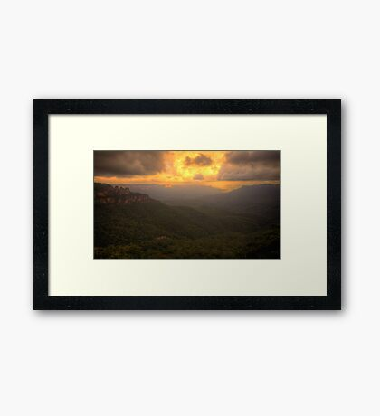 Contemplation - Jamieson Valley - Blue Mountains World Heritage Are - The HDR Experience Framed Print