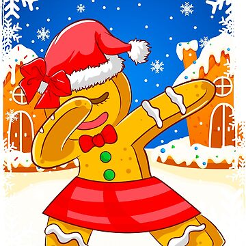 Dabbing Christmas Gingerbread Girl by frittata
