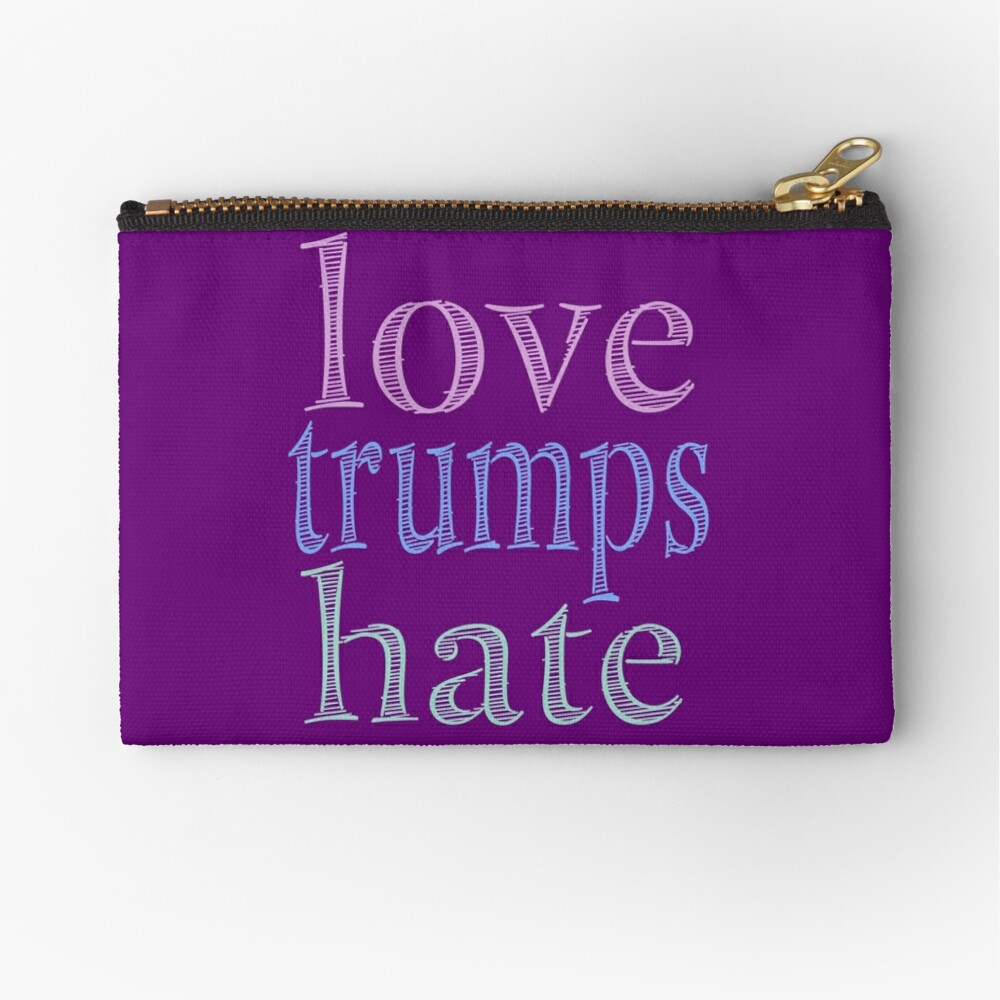 Love Trumps Hate Pretty Pastel Zipper Pouch