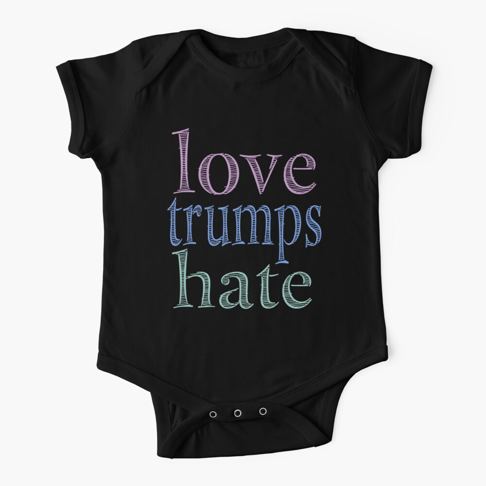 Love Trumps Hate Pretty Pastel Baby One-Piece