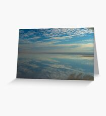 Lake Eyre clouds. Greeting Card