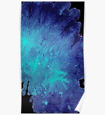 Póster Caja del teléfono azul veteado