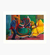 Baile Folklorico Kunstdruck