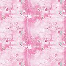 Pink and Mint Marble by SquibbleDesign