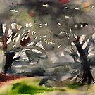 grauer Wald von Marianna Tankelevich