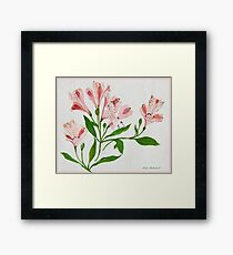 As Delicate as Flowers Can Be.. 1985 Framed Print