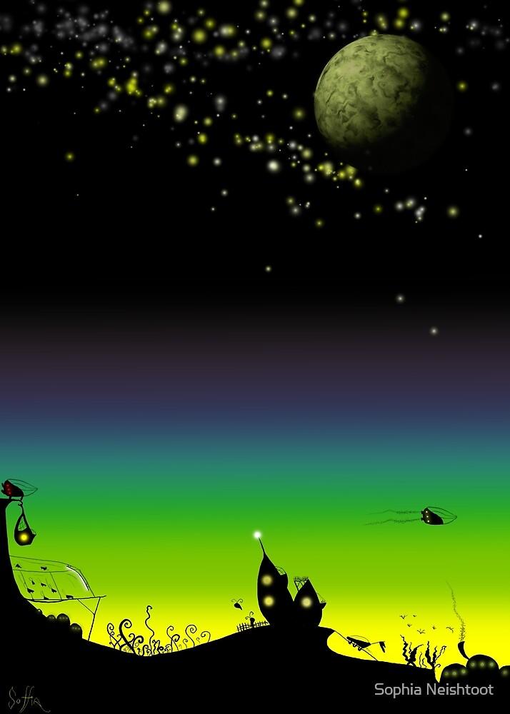 Sunset on a marvelous alien planet by Sophia Newtown