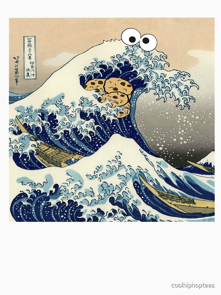 Funny Japanese Cookie Great Wave off Kanagawa T-Shirt by coolhiphoptees