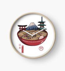 Ein japanischer Ramen Uhr