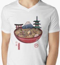 Ein japanischer Ramen T-Shirt mit V-Ausschnitt