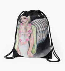 Angel Original Art Illustration Kim Turner Art Drawstring Bag