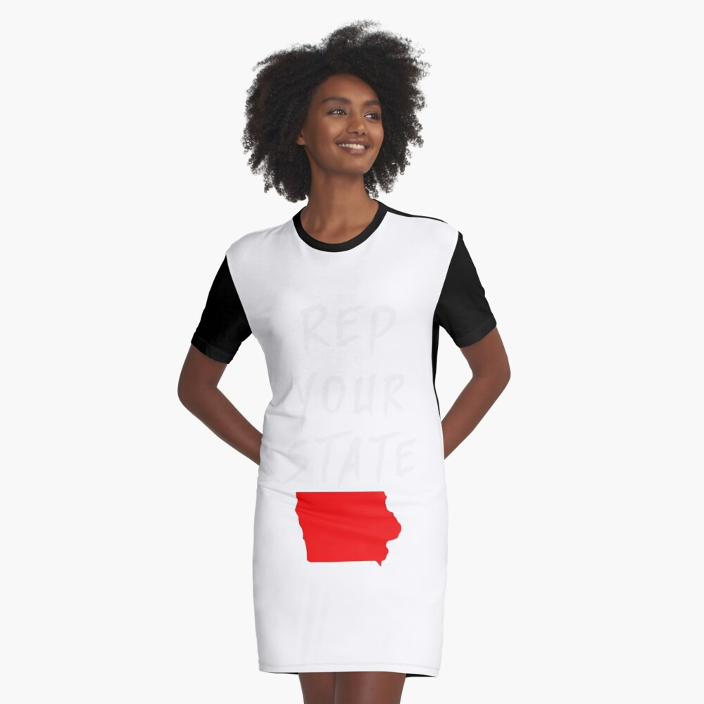 REP YOUR STATE IOWA Graphic T-Shirt Dress