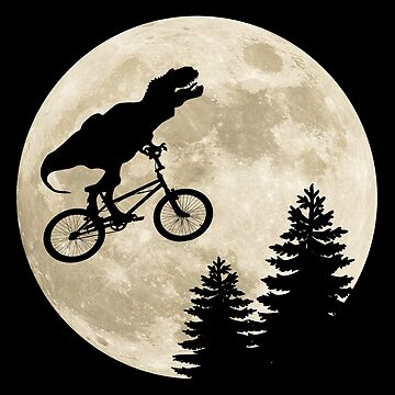T-Rex Flying Over The Moon by everything-shop