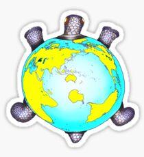 Turtle World Sticker