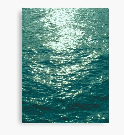 Water and Light photo painting Canvas Print