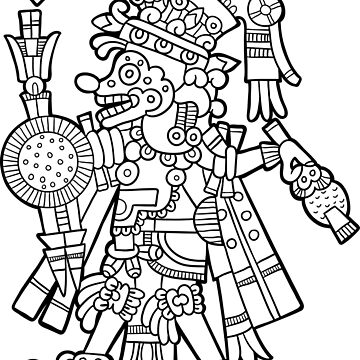 Inca Aztec Maya Deity 2 by Smaragdas