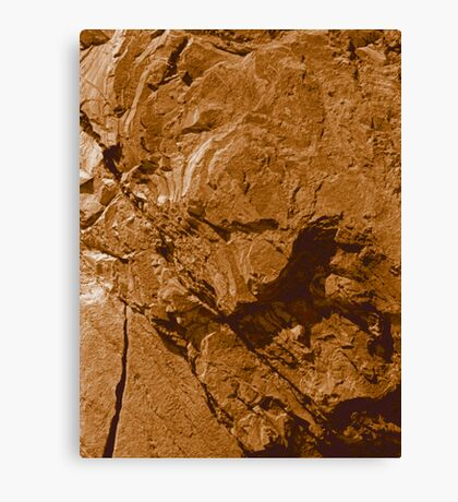 Brown Stone photo painting Canvas Print