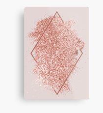 Rose Gold Glitter geometrische Kunst Metallbild