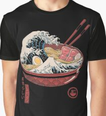 Grande vague de Ramen T-shirt graphique