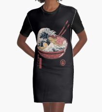 Große Ramenwelle T-Shirt Kleid