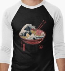 Great Ramen Wave Baseball ¾ Sleeve T-Shirt