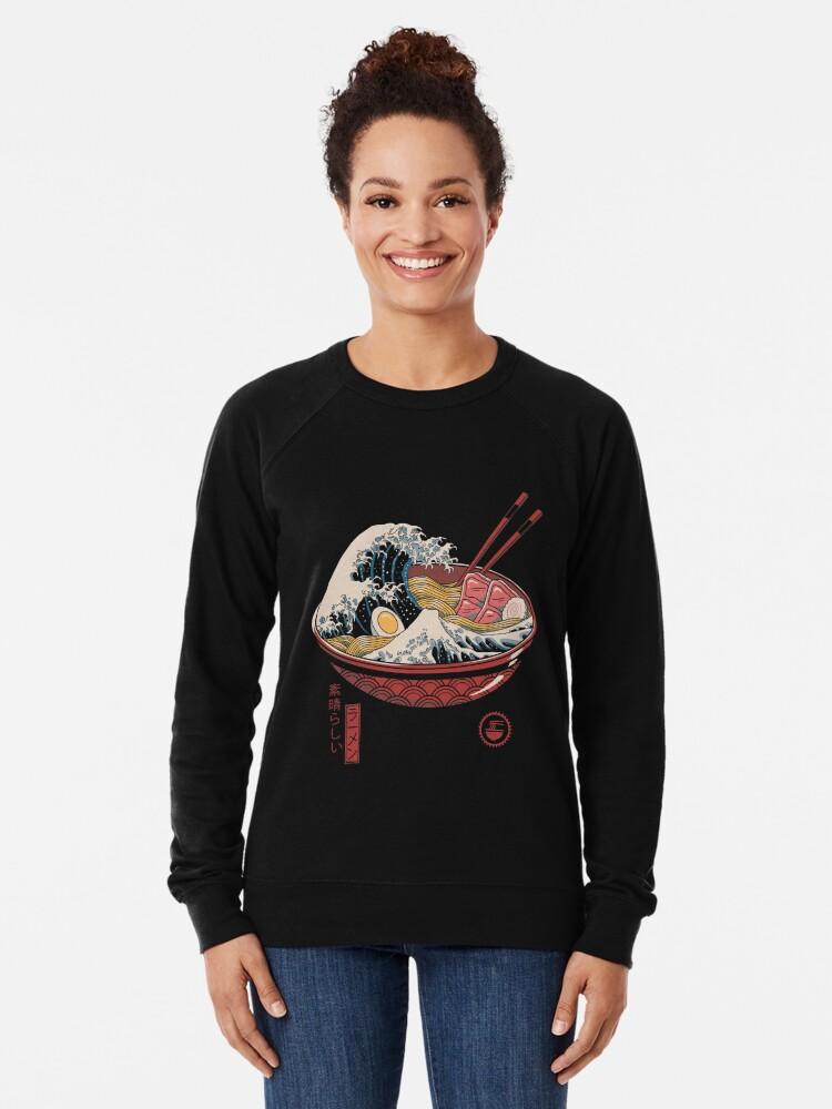 Alternate view of Great Ramen Wave Lightweight Sweatshirt