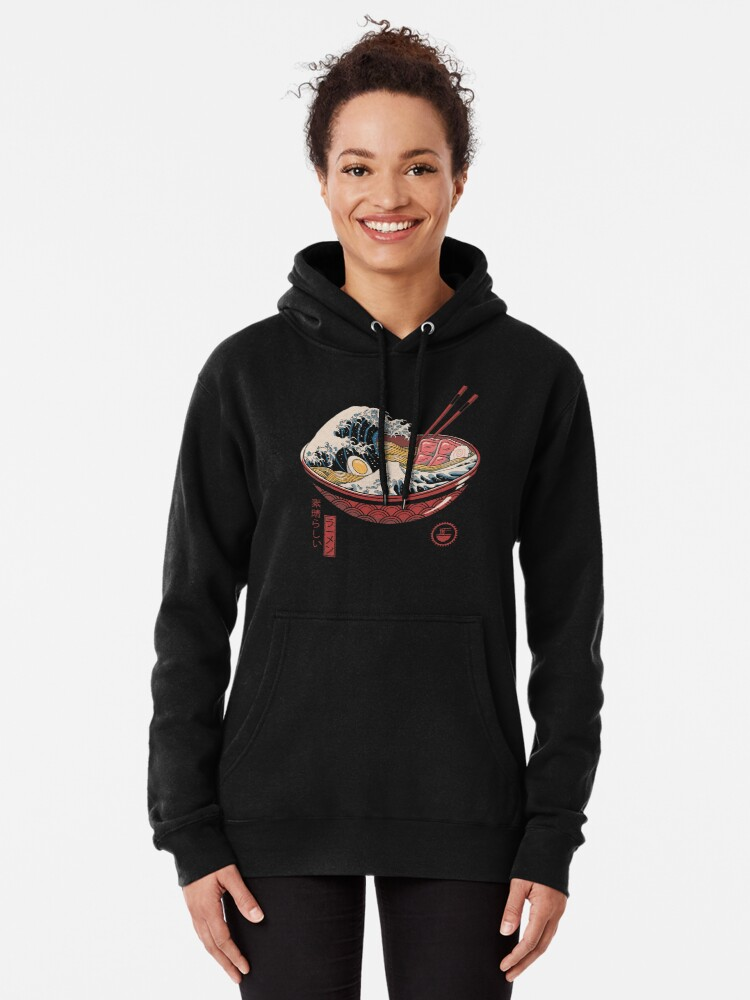Alternate view of Great Ramen Wave Pullover Hoodie