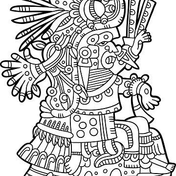 Inca Maya Aztec Deity 1 by Smaragdas