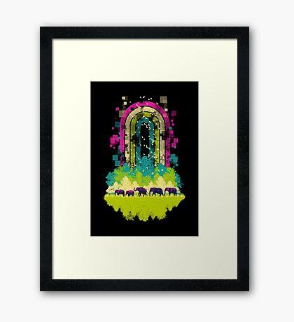Retro Jungle Framed Print